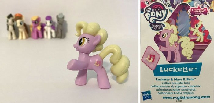 Luckette Pony And Collector Card.