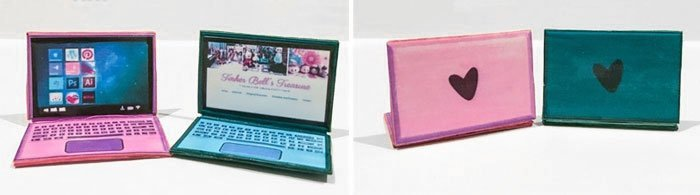 Barbie Doll Laptops (Pink and Green).