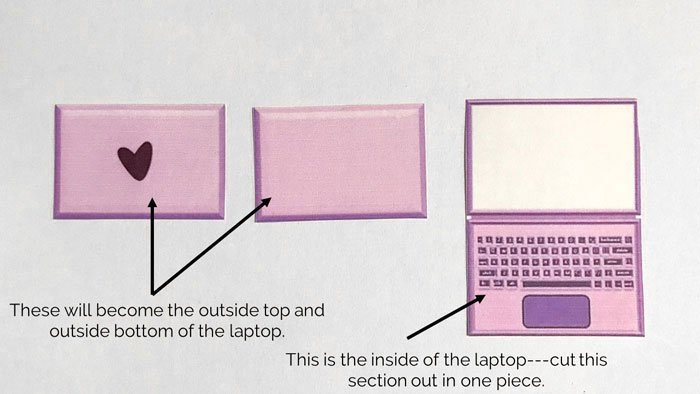 Cut Out The Printable Laptop.