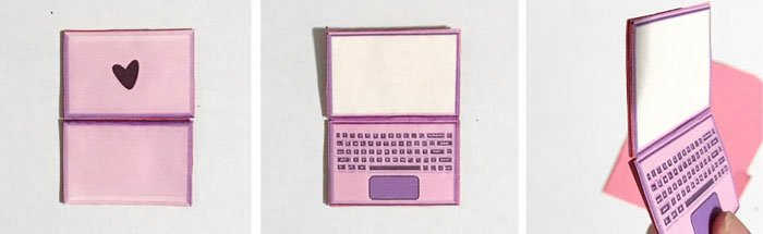 DIY Barbie doll laptop.