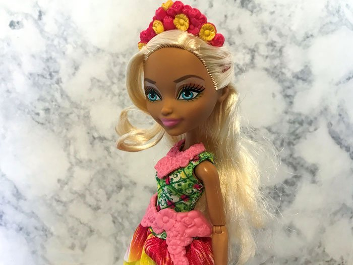 EVER AFTER HIGH NINA THUMBELL DOLL OUTFIT REPLACEMENT FLOWER FLORAL PURSE BAG