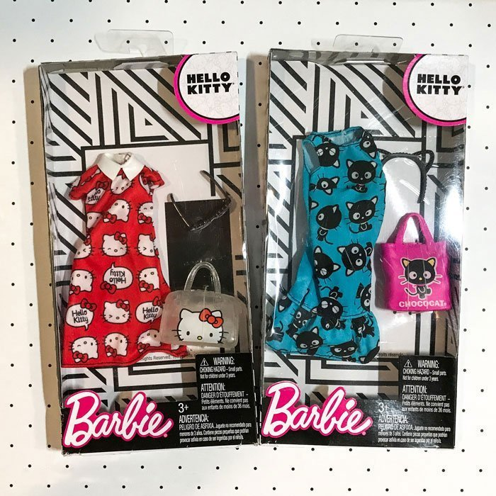 These Barbie outfits featuring Hello Kitty and Chococat are adorable!