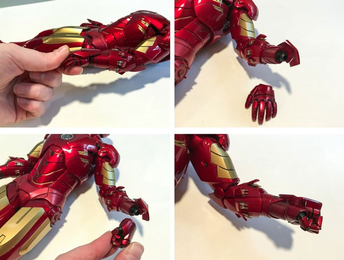 How to change hands on Hot Toys Iron Man figure.