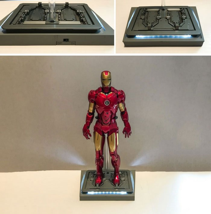 LED light up stand for Iron Man figure.