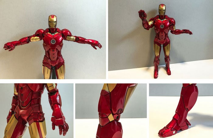 Image showing Iron Man Mark IV figure arm and leg articulation.