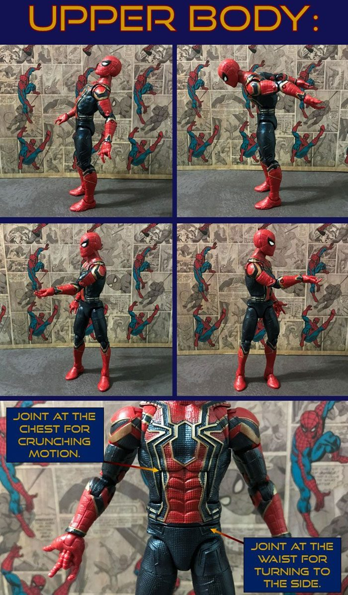 Iron Spider Upper Body Articulation.