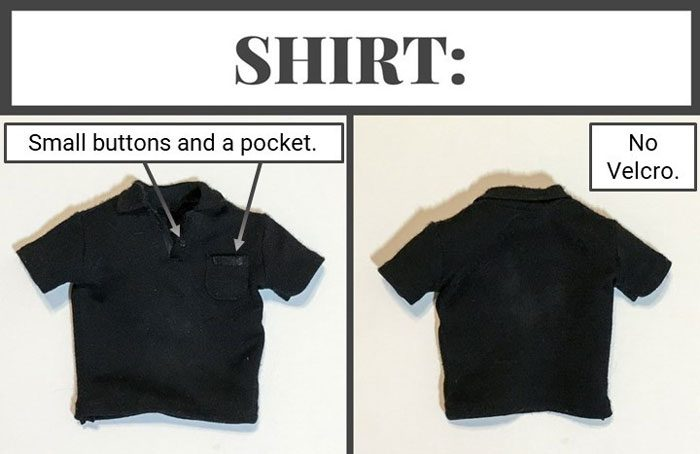 This doll-sized shirt looks identical to its full-sized counterpart!