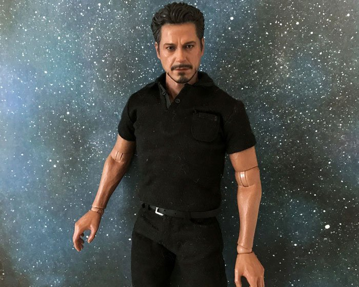 1:6 scale Hot Toys Tony Stark figure.