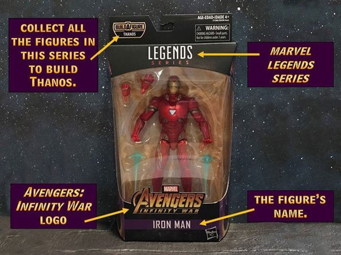 Marvel Legends Infinity War Iron Man Box Front.