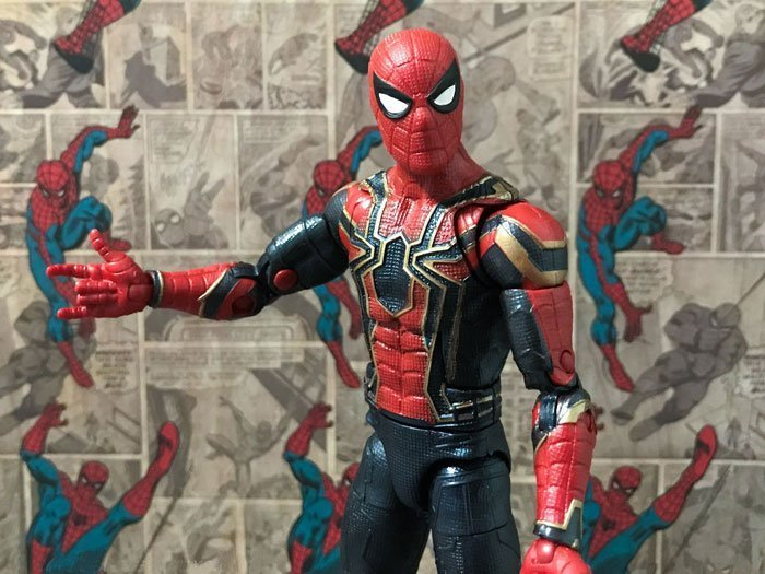 The Marvel Legends Iron Spider comes with web-slinging hands.