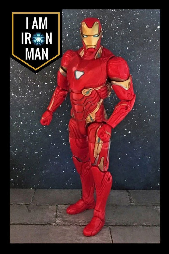 Iron Man action figure with quote: I Am Iron Man.