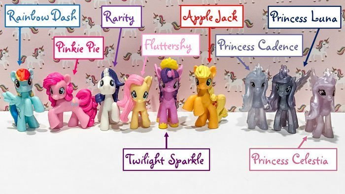 My Little Pony Magic Of Every Pony Roundup Mini Figure Set.