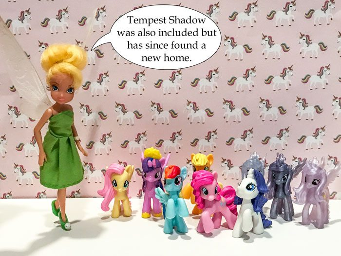 Tempest Shadow was also included but has since found a new home.
