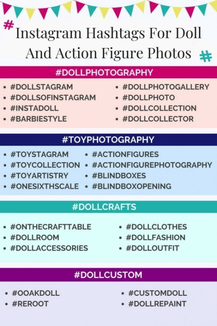 Instagram Hashtags For Dolls And Action Figures!