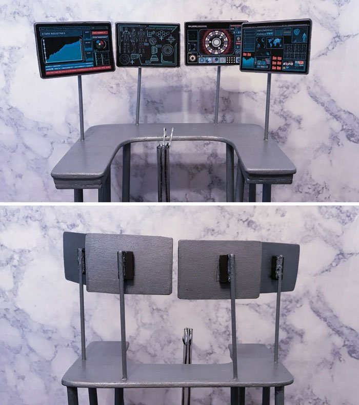1:6 scale computer screens for Hot Toys Tony Stark.