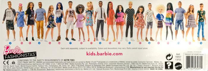 Barbie Fashionista Box Back