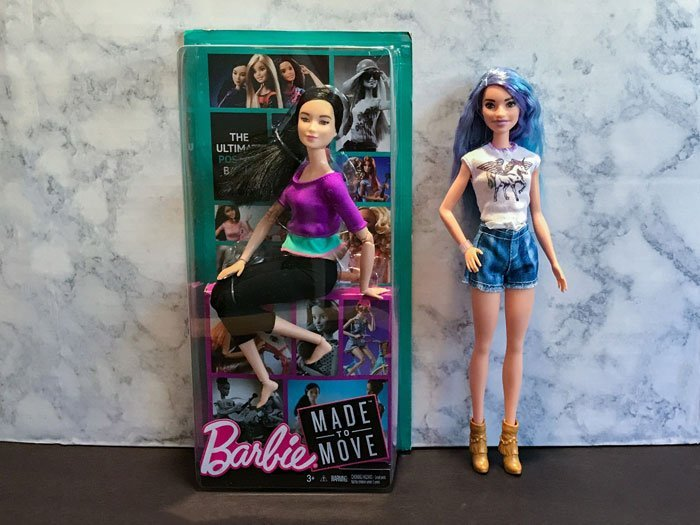Made-To-Move Barbie (Purple Top) with Fashionista 88.