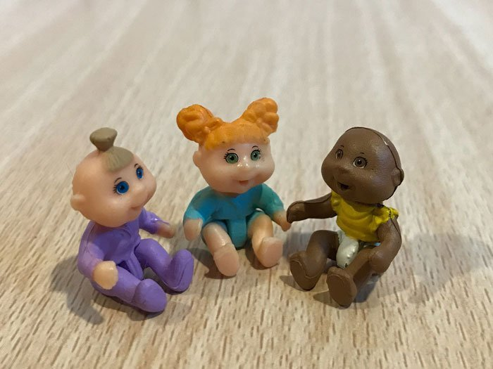 Image of Cabbage Patch Little Sprouts babies.