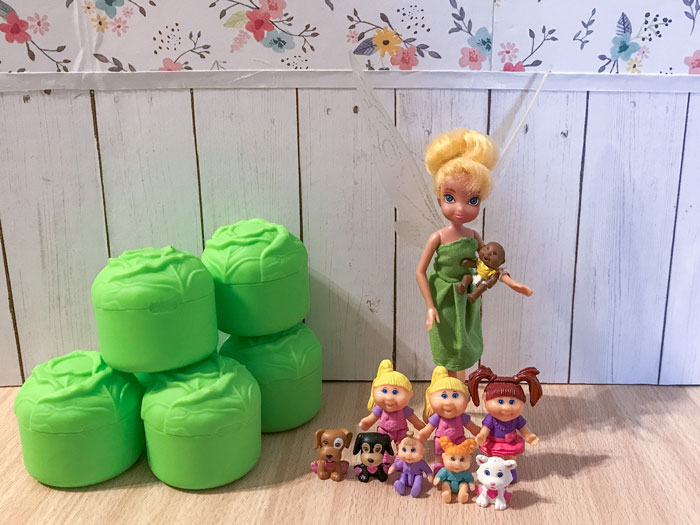 Tinkerbell With Little Sprout Mini Figures.