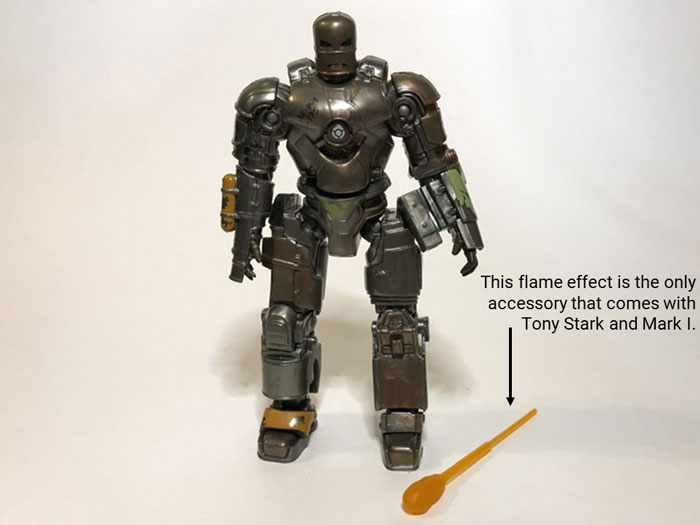 Marvel Legends Mark 1 Flame Accessory.