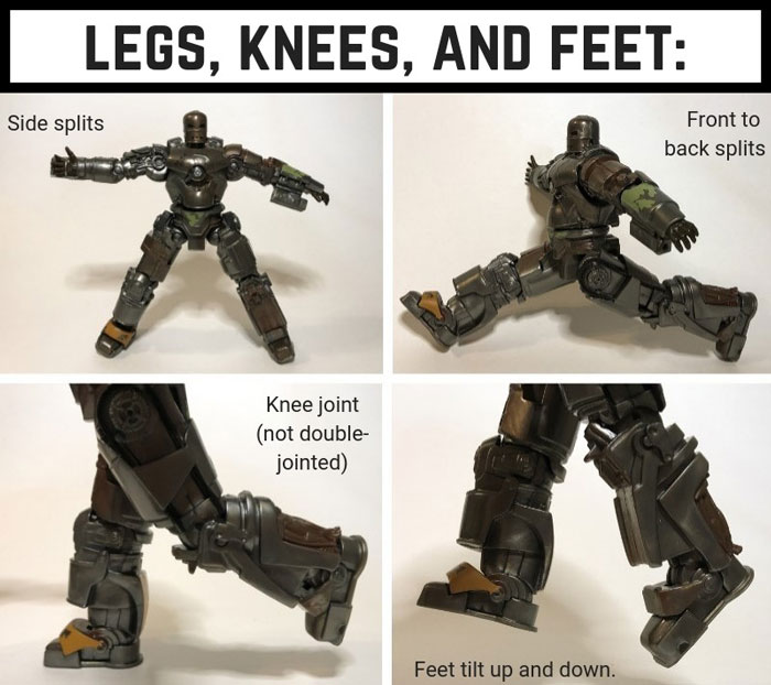 Marvel Legends Mark 1 Leg Articulation.