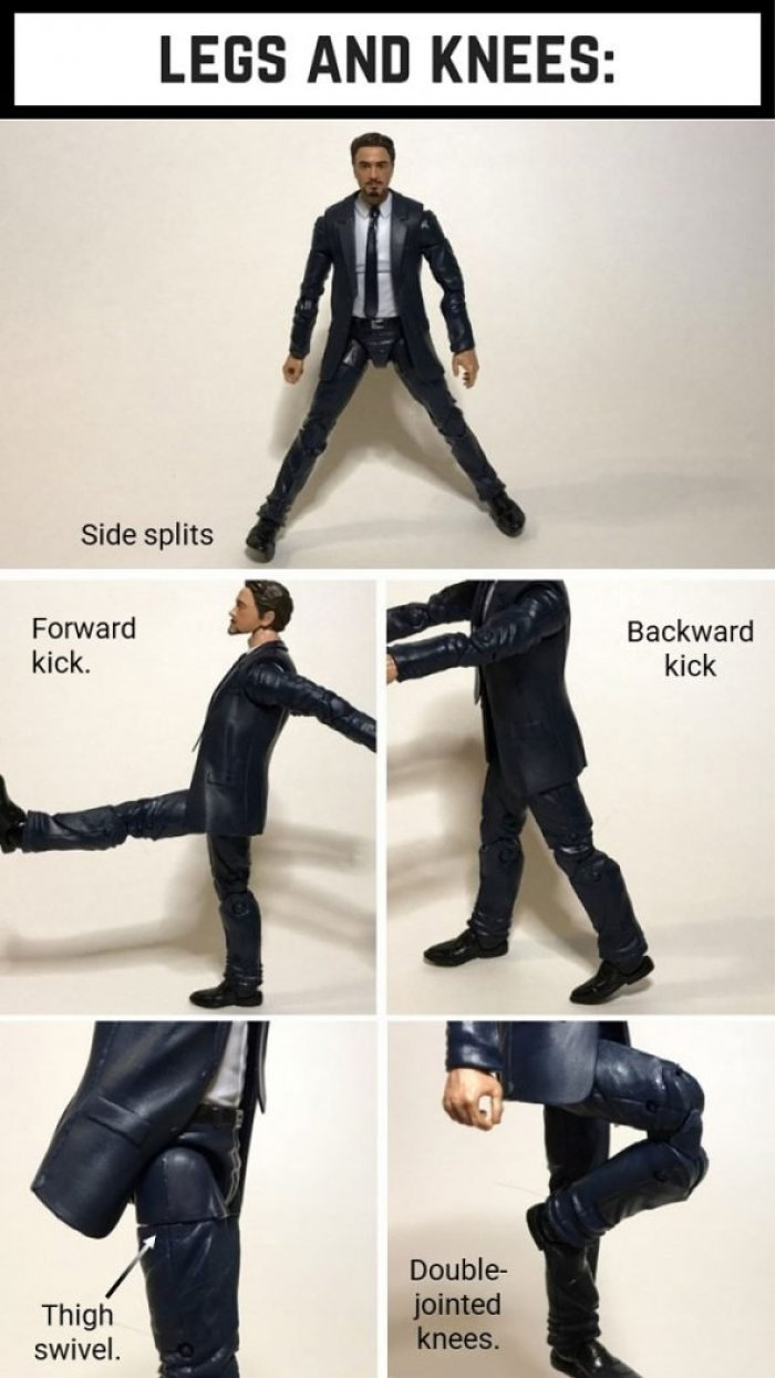 Tony Stark Leg And Knee Articulation.