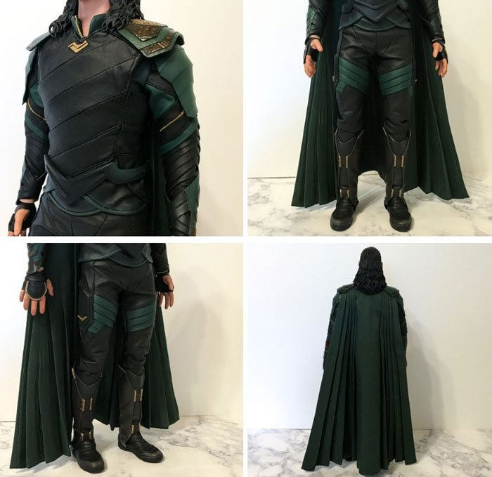 A closer look at Hot Toys' Loki Ragnarok outfit.