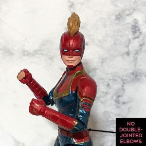 Captain Marvel elbow articulation.