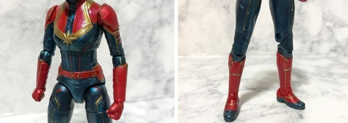 Paint on Marvel Legends Captain Marvel gloves and boots.
