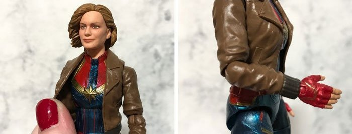 Image of jacket on Captain Marvel action figure.