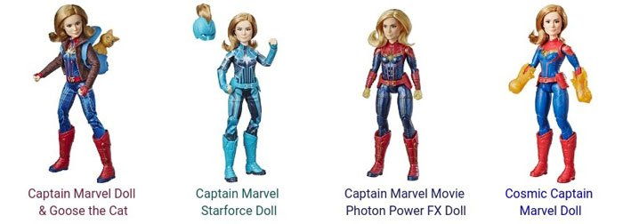 2019 Captain Marvel dolls by Hasbro.