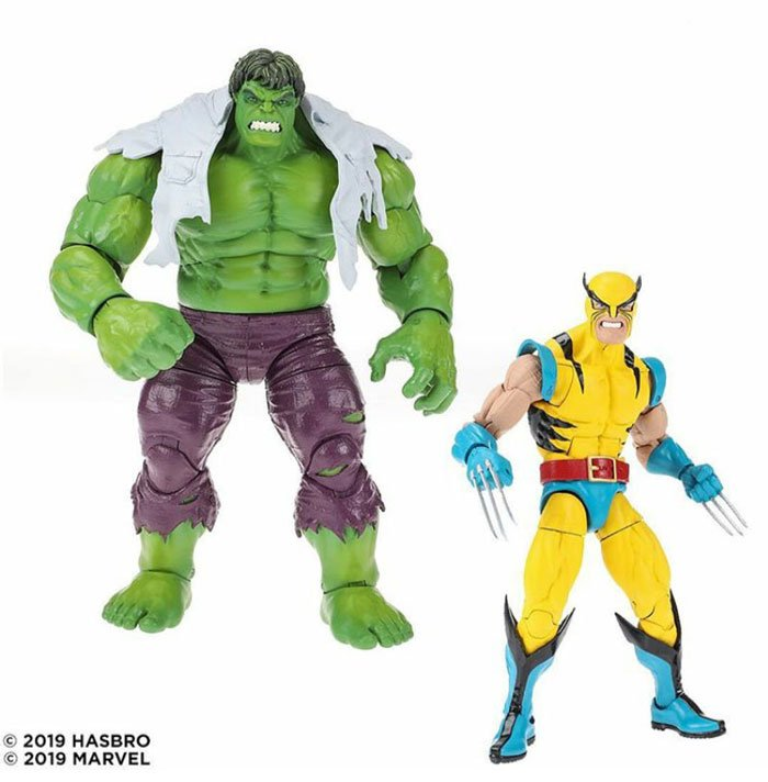 Marvel 80th Anniversary Legends Wolverine and Hulk Two-Pack. Coming Fall 2019.