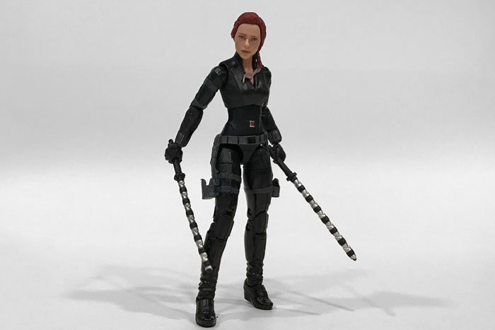 Marvel Legends Avengers: Endgame Black Widow wearing traditional outfit.