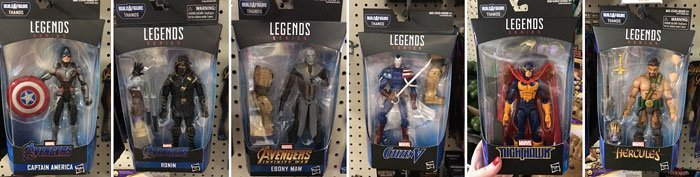 Marvel Legends 2019 Thanos Build-A-Figure Wave Figures.