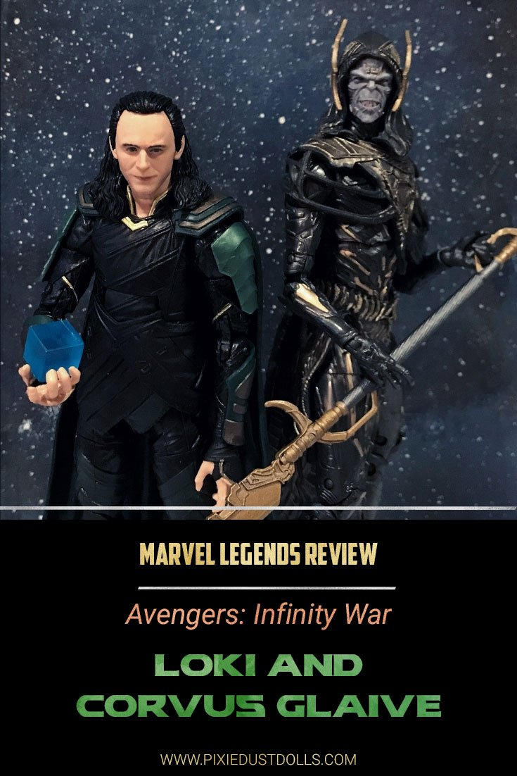 Marvel Legends Review: Loki and Corvus Glaive 2-pack from Avengers: Infinity War.