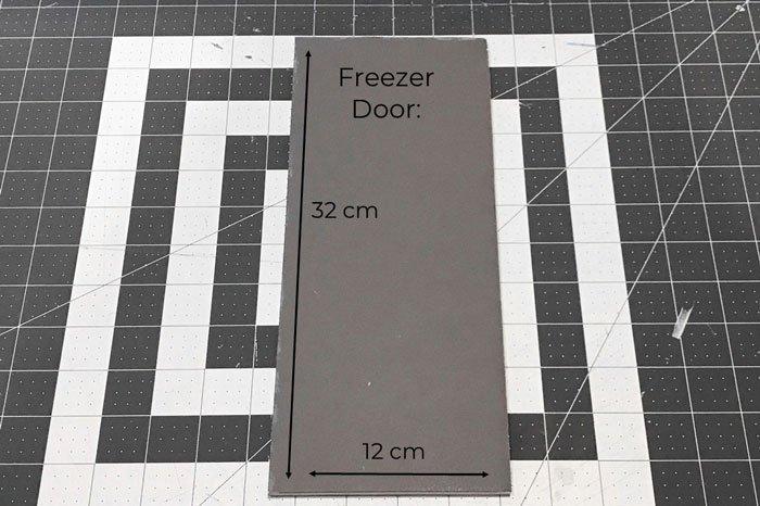 DIy Doll Freezer: Making the door.