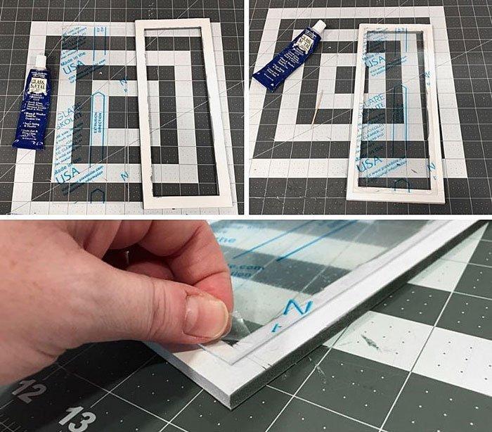 DIY Doll Freezer: Glue plexiglass over door center.