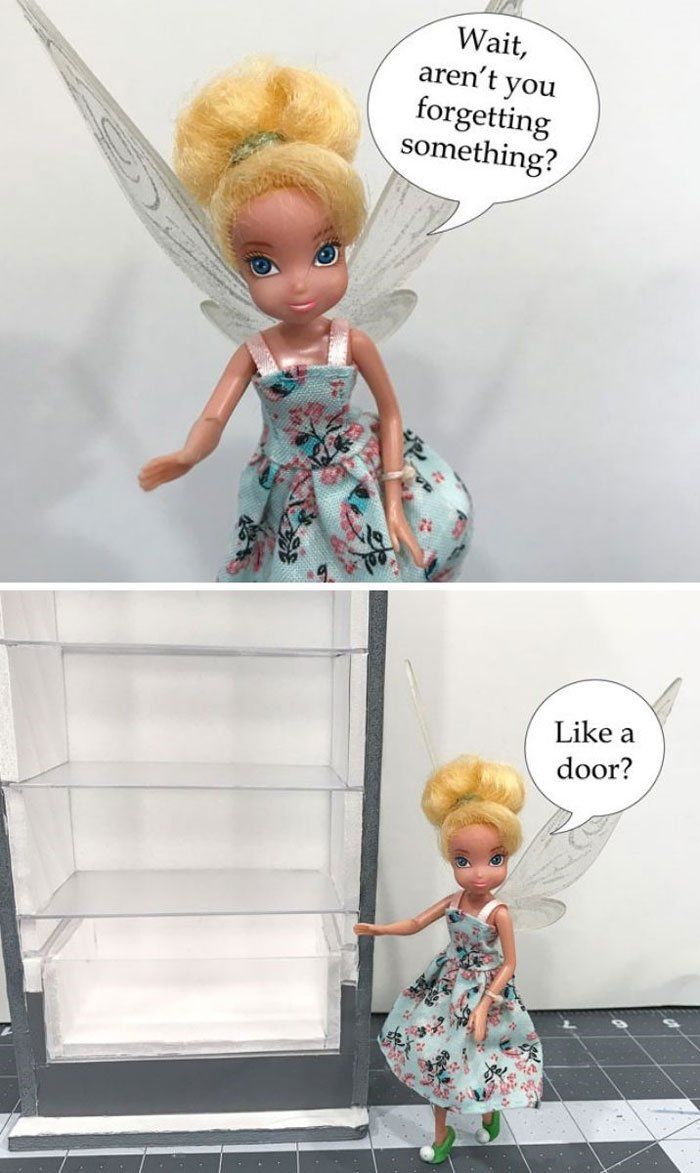 Image of Tink: Wait, aren't you forgetting the door?