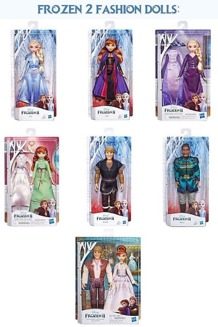 Frozen 2 Fashion Dolls from Hasbro.
