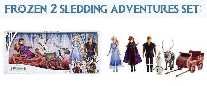 Frozen 2 Sledding Adventures Playset from Hasbro.
