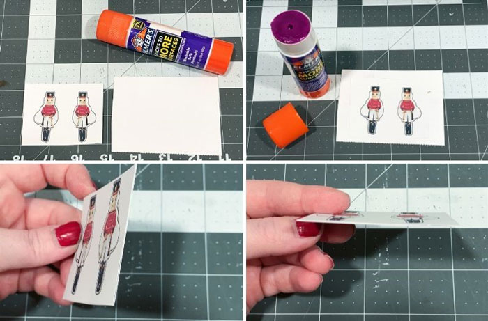 Glue the printable to cardstock for extra strength.