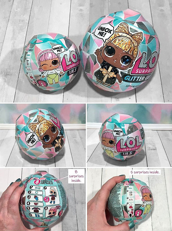 Image of L.O.L Suprise doll globes.