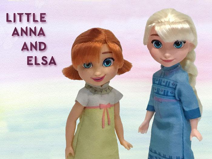 Arendelle Royal Family Dolls: Anna and Elsa.