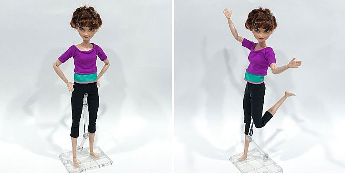 Hasbro Iduna on Made-To-Move Barbie Body.