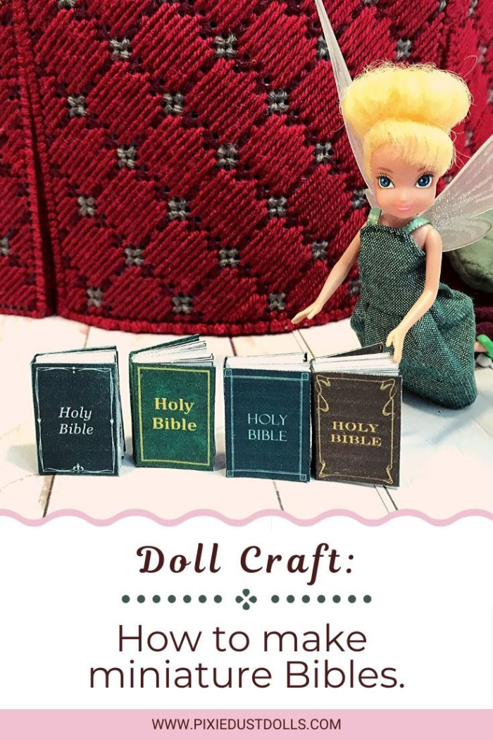 Doll Craft: How to make miniature Bibles.