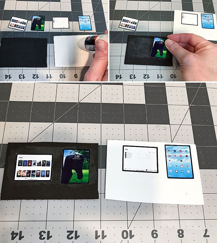 Miniature iPad screens.