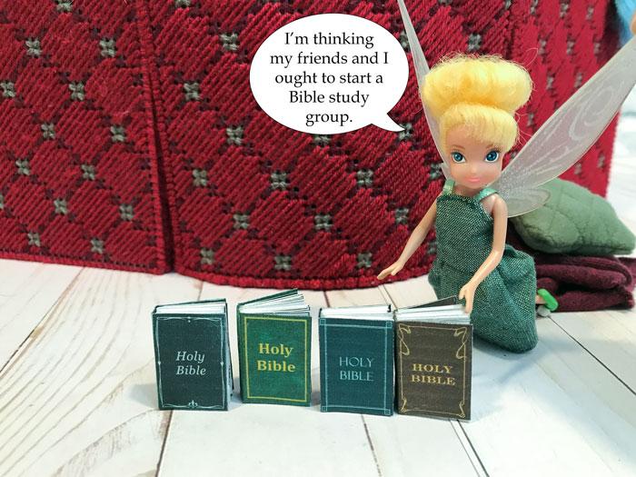Miniature Bibles for dolls.
