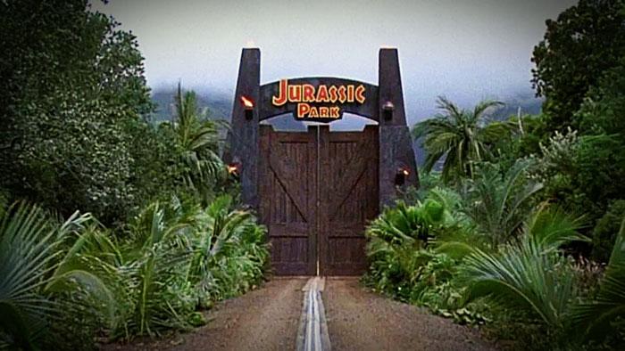 Jurassic Park gates.