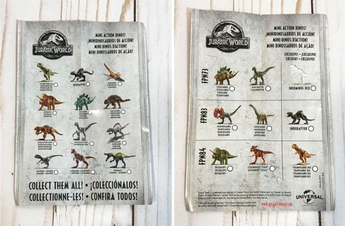 Jurassic World Blind Bag Collector's Guide.