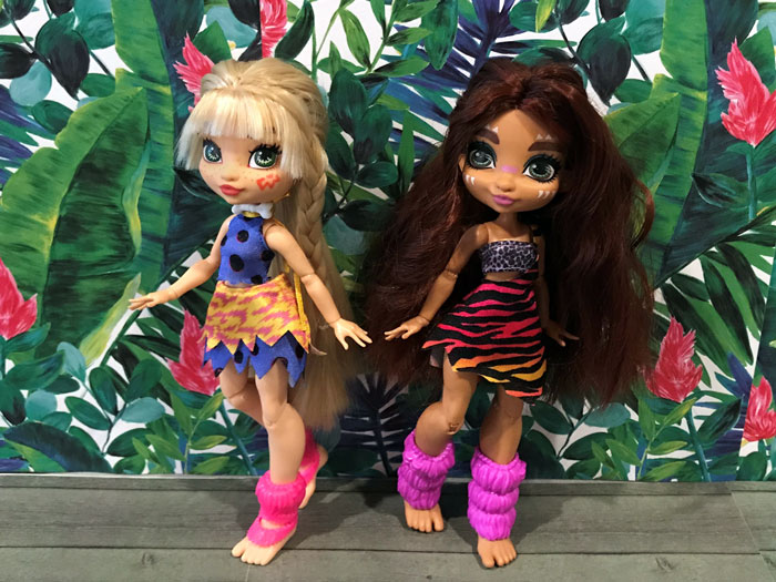 Custom Cave Club Dolls: Emberly and Roaralai.